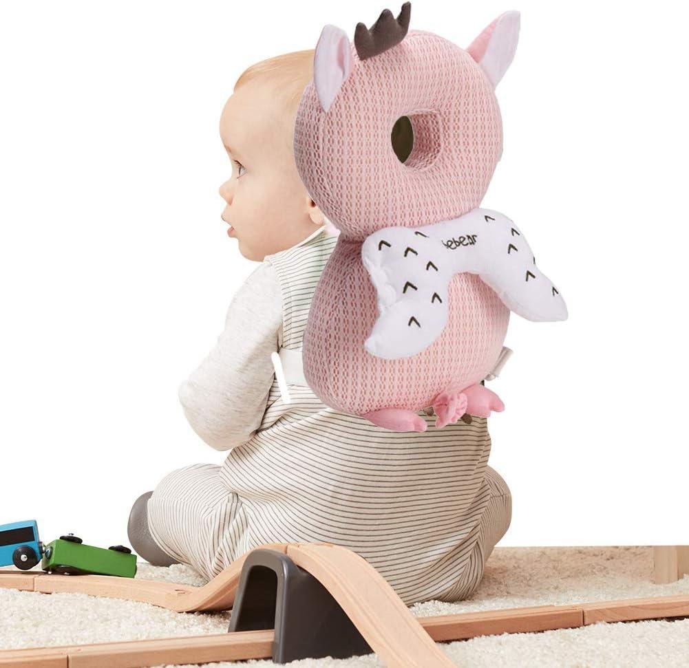apoyo para la espalda protecci/ón contra las ca/ídas verde B/úho verde mochila de protecci/ón para la cabeza Almohadas para reposacabezas de beb/é antica/ídas suaves y transpirables para beb/és