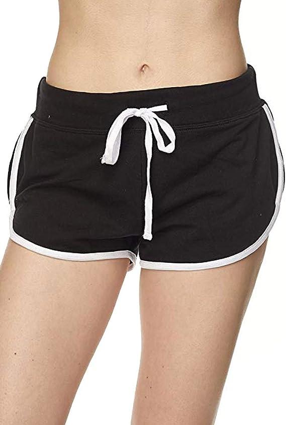 Payeel Velvet Shorts High Waisted Stretchy Short Pants for Women