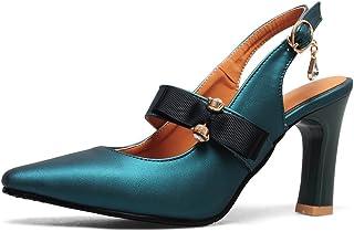 a2a16a3722113a OALEEN Escarpins Vintage Femme Eté Talon Haut Strass Chaussures Sandales  Soirée Mariage