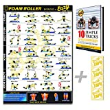 Eazy Wie Schaum Roller Poster Übung Workout Big 51 x 73cm Entspannen, Strecken, heilen...
