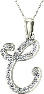 Best diamond necklace letter c Reviews