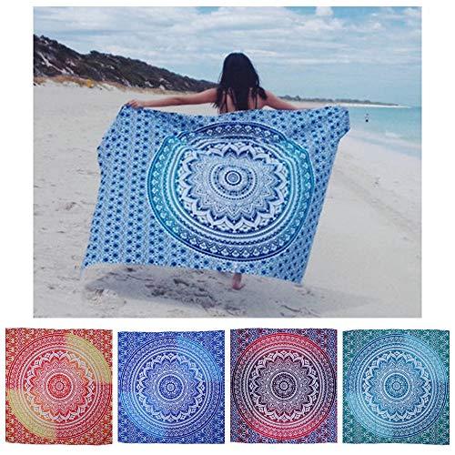 Babettew Picnic Multifuncional chales Hippie Bohemia decoración Colgante Estera de Yoga Manta Fina Playa Toalla