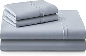 MALOUF Supima Premium Cotton Sheets-100 Percent American Grown Long Staple-Sateen Weave-Extra Deep Pockets-Single Ply-600 Thread Count-King-Smoke, King