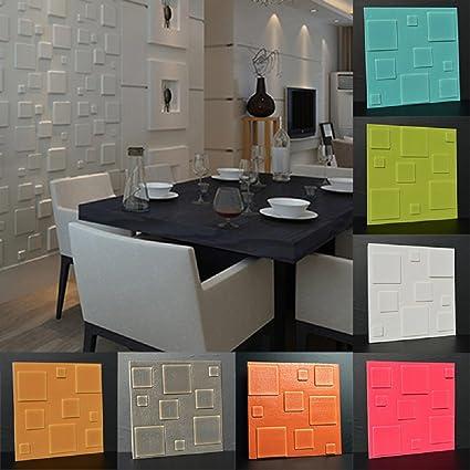 Adhesivo de pared extraíble de PVC para salón, cocina, dormitorio, color blanco