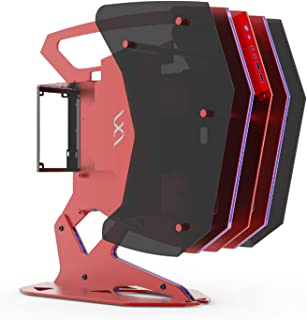 DunShan Caja Computadora Caja Expansión Host Ranura Symphony RGB Arquitectura Abierta Placa Base Compatible ATX/Micro-ATX/...
