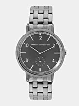 French Connection Men's Baker Grand Sub-sec Quartz Watch with Stainless-Steel-Plated Strap, Grey, 20 (Model: FC1288BBM)