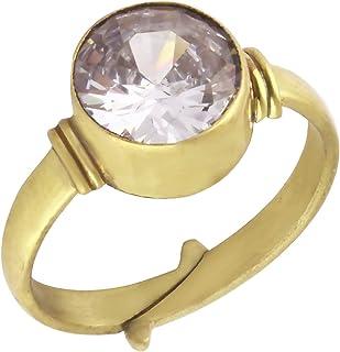 جايبور الماس حجر الزركون الطبيعي اشتاداهاتو خاتم قابل للتعديل 5.25 راشي راشي راتنا الأصلية ومعتمد من GGTL جايبور جاركان ال...
