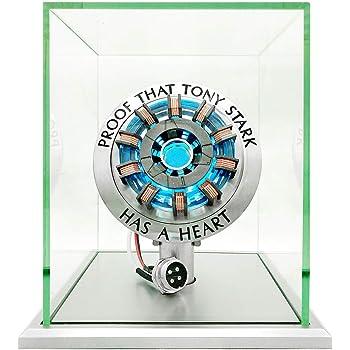 完成品 Marvel Ironman/War Machine Arc Reactor MK2 組み立て不要 アイアンマン アーク リアクター 1: 1実物大 USB給電 LED発光のスペルモデルセット DIY 模型 防塵展示箱付き
