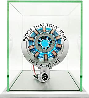 1:1 Iron Man Arc Reactor MK2,DIY USB Finished Product,Vibration Sensing,LED Light,USB Interface,No Assembly Required,no Remote Control Required,Toys Gift(with Display Case)