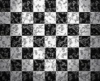 写真用フロード ゴム裏地付き - チェッカーボードフロア - 10×8フィート