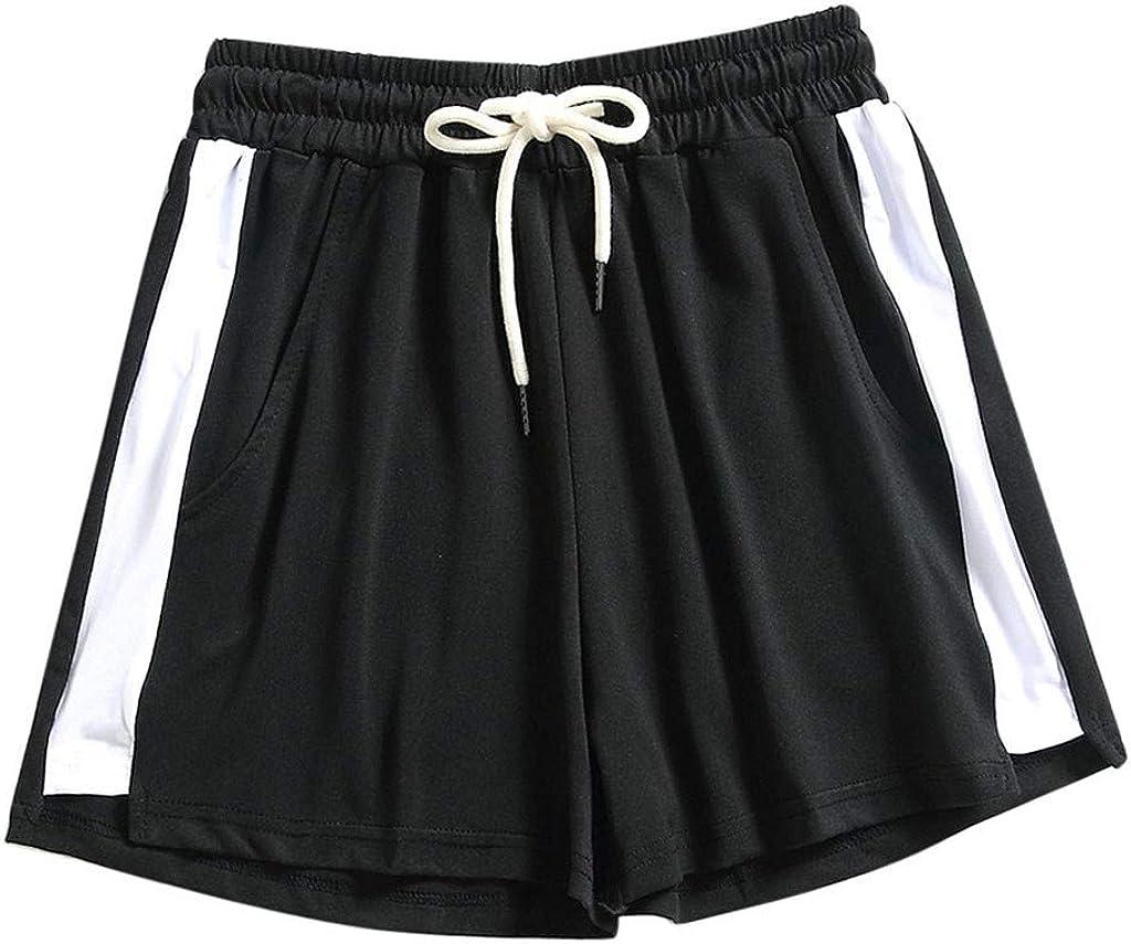 Uppada Women's Jersey Shorts Fashion Drawstring Loose fit Wide Leg Shorts Summer Athletic Active Running Beach Sweatpants