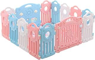 Relaxbx Baby Fence Children S Activity Center Safety Playground Baby Play Fence Baby Door Home Indoor And Outdoor Shatter-Resistant Fence