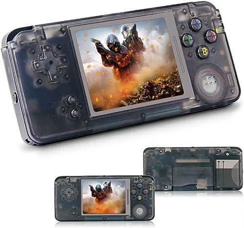 Rongyuxuan Jeu électronique portable, Jeu vidéo portable 3  Console de Jeu Classique avec écran TFT 818 Jeux Console de Jeux 64 Bits, Cadeau d'anniversaire pour Enfants et Adultes