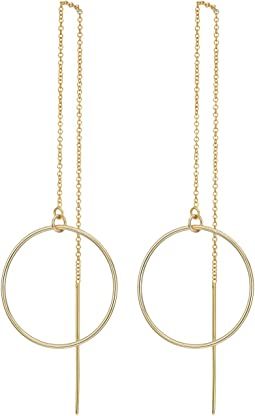 Dogeared Playing By Ear, Hoop Threader Earrings