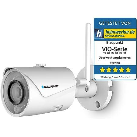Blaupunkt Outdoor Überwachungskamera Vio B30 I Full Hd Sicherheitskamera Für Außen I Über 1080p I Lan Wlan Netzwerkkamera I Ip Überwachungskamera I Wasserdicht Baumarkt
