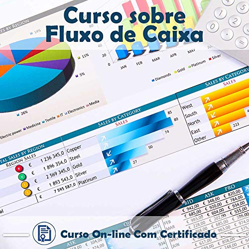 Curso Online em videoaula sobre Fluxo de Caixa com Certificado + 2 brindes