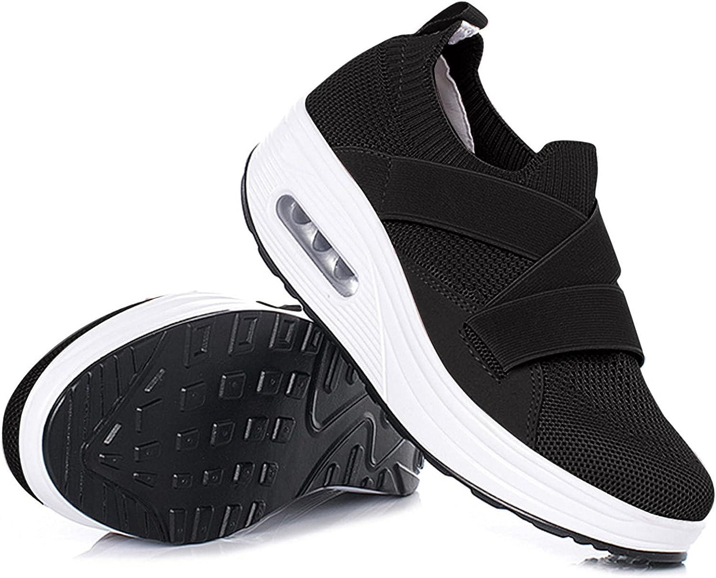 Women's Fashion Leisure Mesh Cross Max 65% OFF Finally popular brand Straps Wedges Sneaker Slip-On