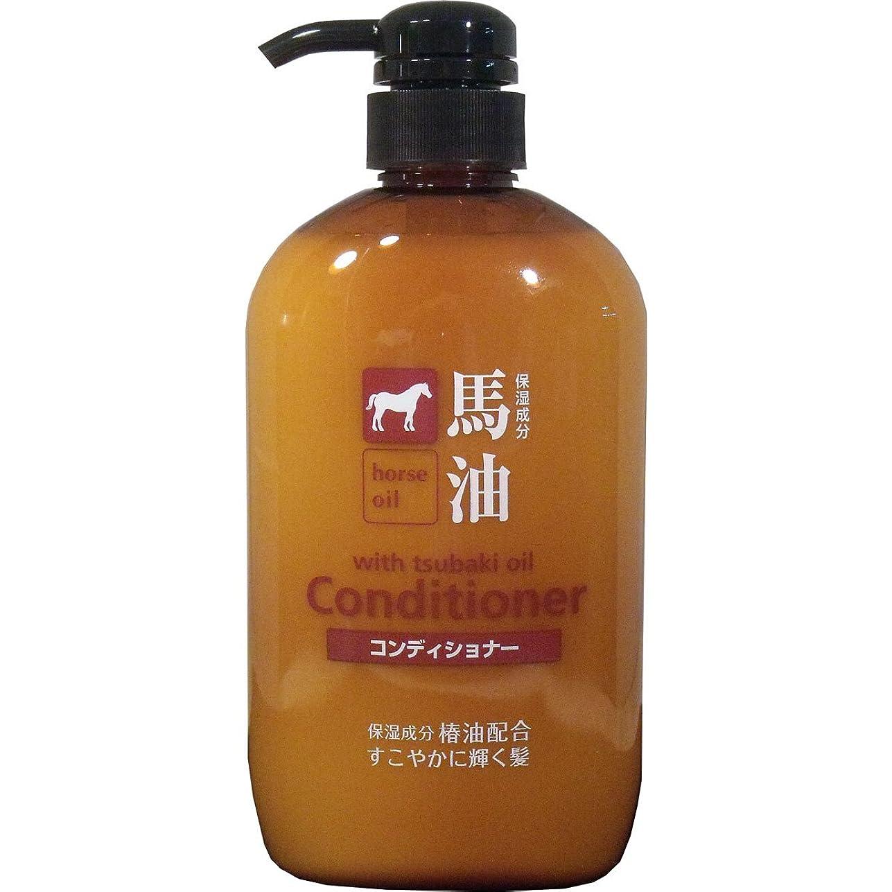 十シリングスラム【セット品】熊野油脂 馬油コンディショナー 600ml【×3個】