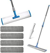 Wet Mop 18 Microfiber Mop Dry Mop For Home Bathroom Hardwood Laminate Cleaning 4 Microfiber Pads + 1 Dirt Removal Scrubber