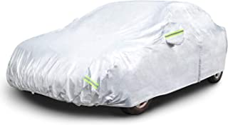 """AmazonBasics Silver Weatherproof Car Cover - 150D Oxford, Sedans up to 170"""""""