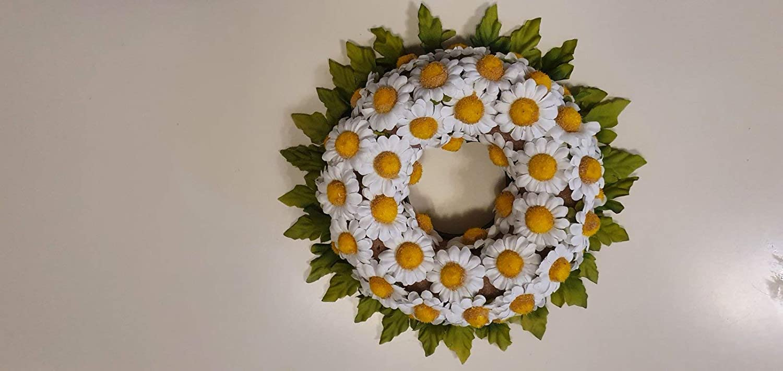 Spring new work Artificial Daisies Wreath depot Flowers