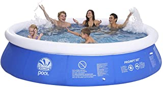 XM&LZ Round Swimming Pool,Extra Large PVC Inflatable Pool,Home Use Inflatable Lounge Pool Kiddie Pool,Garden Above Ground Pool Blue 240x63cm