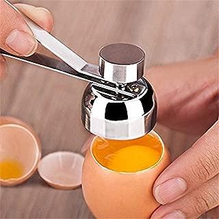 Stainless Steel Eggshell Topper Cutter Remover Egg Shell Topper Cracker Opener Separator for Removing Raw Soft or Hard Boiled Eggs