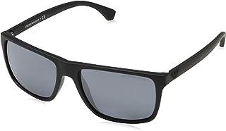 a1c13aed7750 Emporio Armani EA4033 56496Q Black Rubber EA4033 Square Sunglasses Lens  Categor
