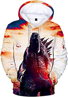 EMILYLE Godzilla VS Kong Boys Unisex 3D Print Pullover Hoodie for Fans