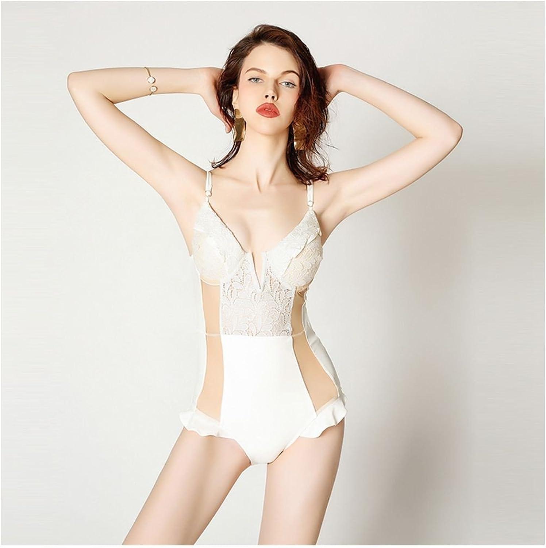 SHUCHANGLE Spitze Stahl Bikini Bikini Bikini Badeanzug Weiblich Weiß Luftregion Süße Lotusblatt Badeanzug B07F93XWWC 1a4438