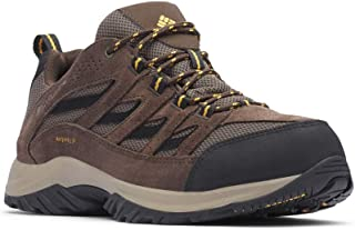Columbia Men's Crestwood Waterproof Hiking Boot, Mud, Squash, 8 Wide US