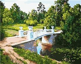 Pintar por números para adultos y niños principiantes,《Árboles verdes del bosque》Sala de estar Dormitorio Paisaje Flores Personajes de anime Pintura decorativa en color al óleo
