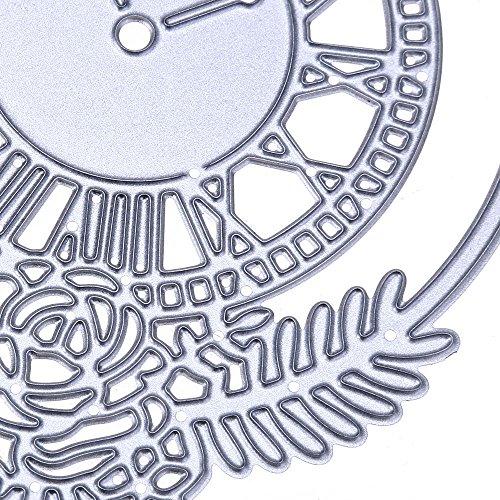 OIKAY Stanzschablone Prägeschablonen Embossing Machine Scrapbooking Schablonen Stanzformen auf Sizzix Big Shot/Cuttlebug/und andere Stanzmaschine anwenden 0130@024