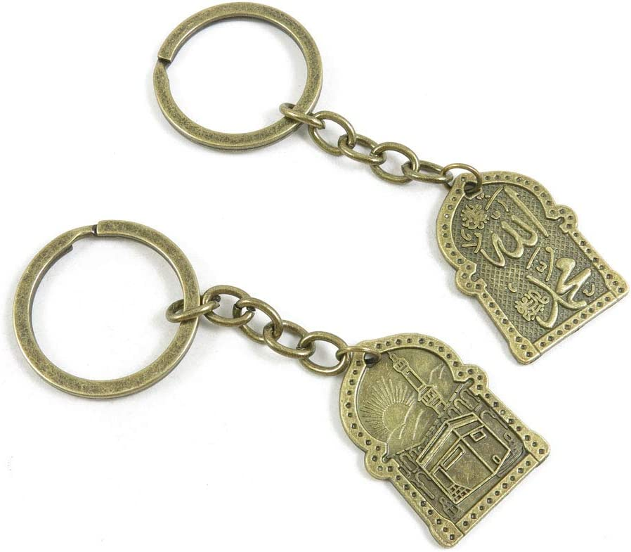 1 Items Keychain Keyring Key Tags Chains Rings Jewelry Bag Charms I3RM4 Building Castle Signs Tag