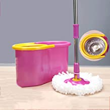 Mops, Cleaning Floor Mop Buckets Sets Microfiber Mop Bucket Cleaning System Spin Mop Easy Wring Cleaning Tools,Twoheads Xp...