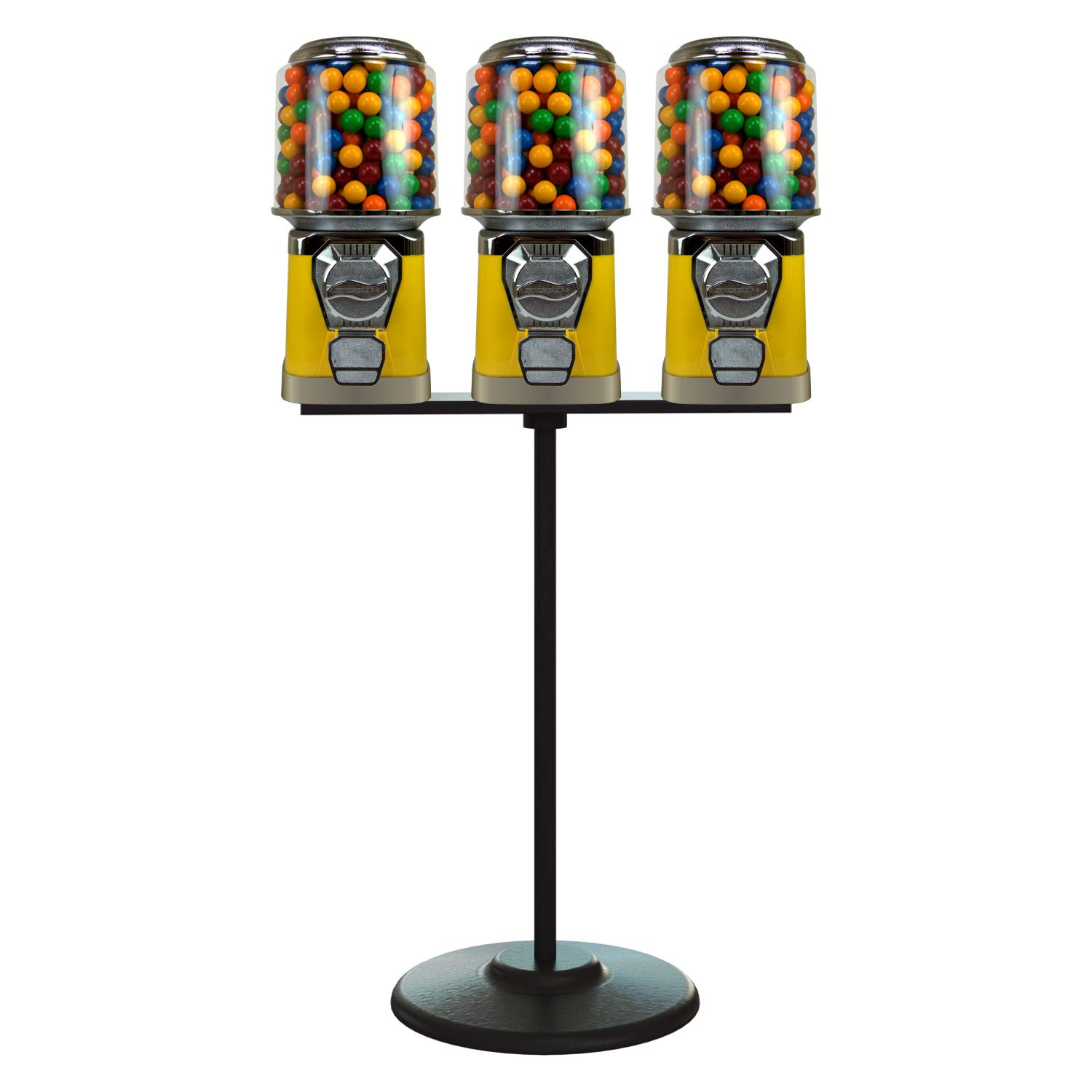 Gumball Machine with Stand - free 3 Machines w Yellow Vending Max 66% OFF Bundled