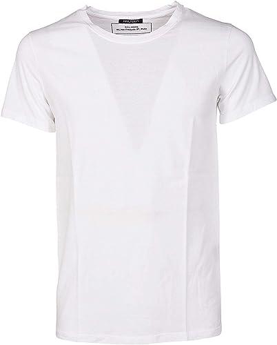 Balmain Homme POHJ607C134197 Blanc Coton T-Shirt