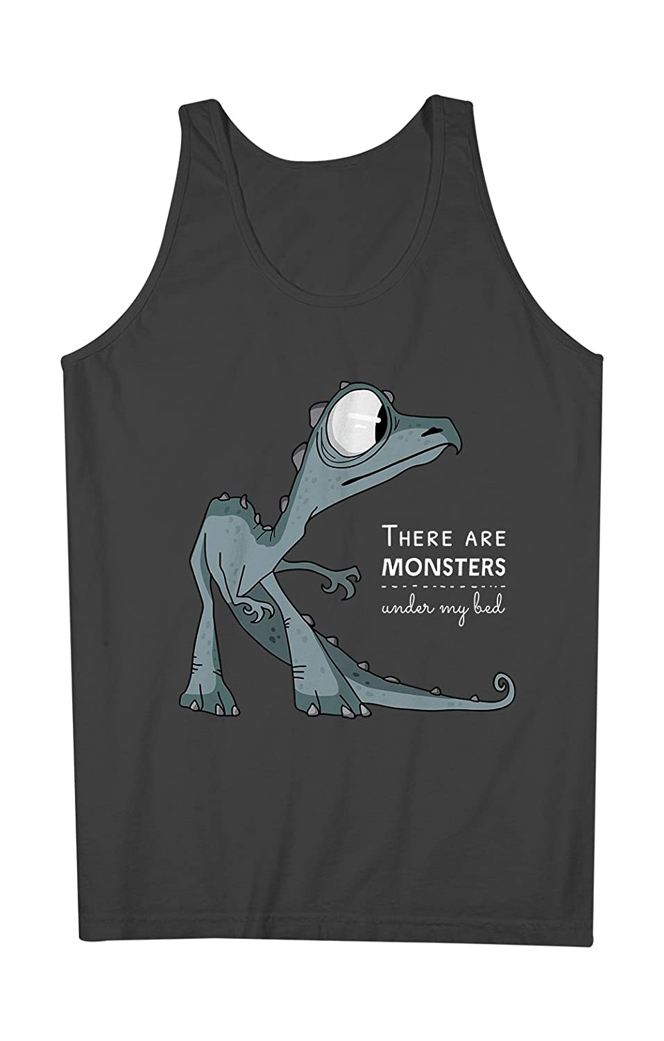 There Are Monsters Under My Bed おかしいです Dragon 男性用 Tank Top Sleeveless Shirt
