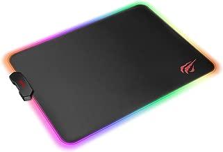 havit Tappetino Mouse Gaming RGB Mousepad 350 * 250 * 4 mm Tappetini per Mouse da Gioco con Base in Gomma Antiscivolo, Nero (MP902)