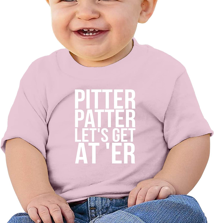 QKMKO Pitter Patter Let Get At'Er Girl's Boy'Sbabys Cotton T-Shirt Short T Shirts