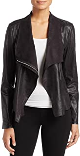 Womens Fall Faux Suede Motorcycle Jacket Black L