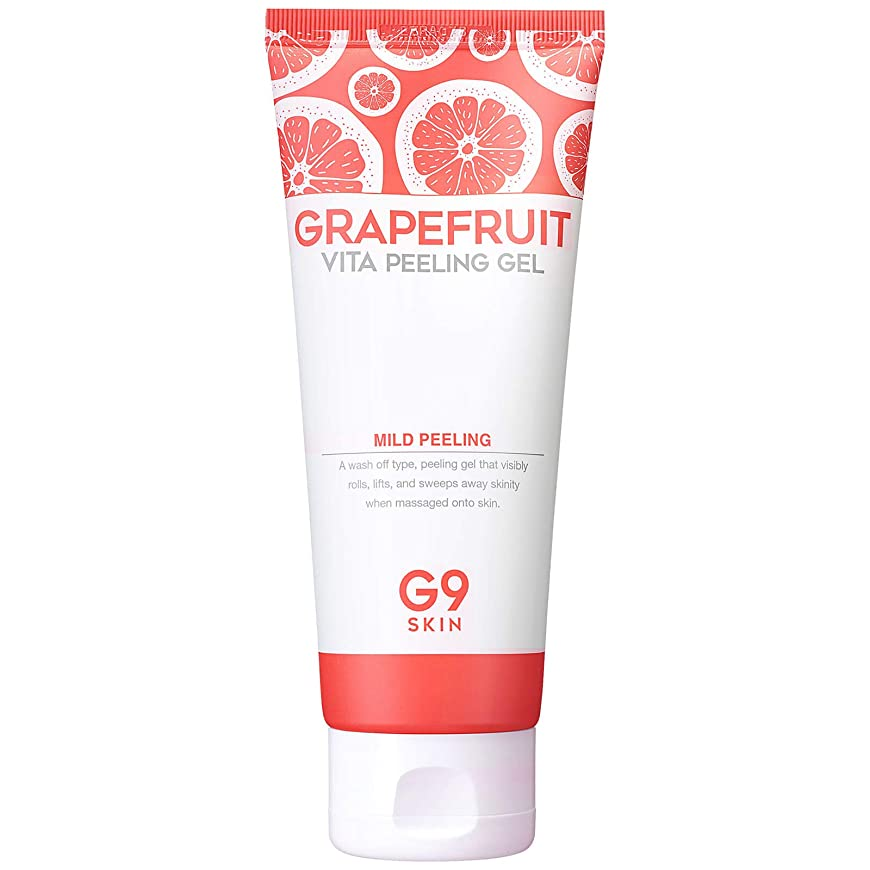 キャンバス属性笑いジーナインスキン G9SKIN グレープフルーツヴィータピーリングジェル 150mL, Grapefruit Vita Peeling Gel