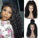 Jessica Hair 13x6 Lace Front Wigs Human Hair Wigs For Black Women Curly Brazilian Virgin Hair Glueless with Baby Hair(20 inch with 150% density)