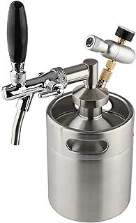SIRUL Système de Mini-fût de bière pressurisée, 5L Mini Distributeur De Bière Set Portable Baril en Acier Inoxydable, avec...