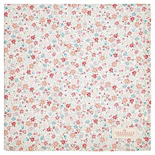GreenGate - Tischdecke - Clementine - white - Baumwolle - 150x150cm