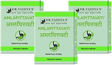 Dr. Vaidya's New Age Ayurveda | Amlapittavati | Ayurvedic Pills For Acidity | 24 Pills Each (Pack of 3)