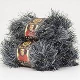 (3 Pack) Lion Brand Yarn 320-204 Fun Fur Yarn, Lava