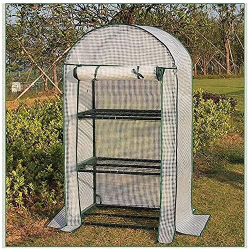 ZHEYANG Tomatenhaus Tomatenzelt 3-stöckiges Mini-Gewächshaus mit transparenter Kunststoff-PE-Abdeckung, Indoor-Outdoor-Zelt-Garten-Gewächshaus, in jedem Gartengestell für Jede Jahreszeit Model:G07