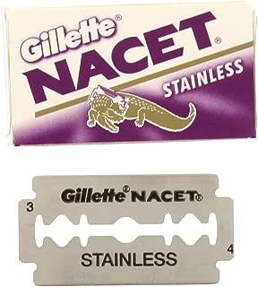 50 NACET STAINLESS Double Edge Razor Blades