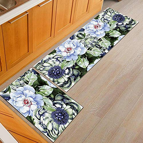 2 stuks tapijt keuken wastafel anti-slip vloermatten absorberend wasbaar decoratie 40 * 60+40 * 120cm 01